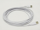 Cable - GOLD PLATED USB 2.0 A to A Extension Cable (White) 15FT