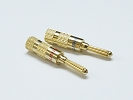 Other Accessories - 1 Pair Gold Amplifier Reciver Musical Audio Speaker Cable wire Connector Banana Plug Type A