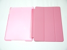 IPad Case - Pink Slim Smart Magnetic PU Leather Cover Case Sleep Wake with Stand for Apple iPad Air