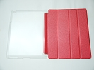 IPad Case - Red Slim Smart Magnetic Cover Case Sleep Wake with Stand for Apple iPad 2 3 4