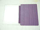 IPad Case - Purple Slim Smart Magnetic Cover Case Sleep Wake with Stand for Apple iPad 2 3 4