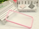 iPhone Case - Pink & Transparent Slim TPU Skin Case Matte Cover for Apple iPhone 6 Plus 5.5""