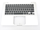 "KB Topcase - Grade A Top Case Palm Rest US Keyboard without Trackpad for Macbook Pro 13"" A1278 2011 2012"