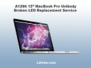 "Mac LCD/GLASS Replacement - A1286 15"" MacBook Pro Broken Glossy LED Replacement Service"